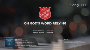 Song 809 On God's word relying PIANO WMV