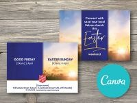 Easter Postcard Invitation - Canva Editable