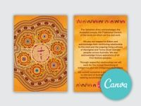 Acknowledgement of Country Lanyard - Canva editable