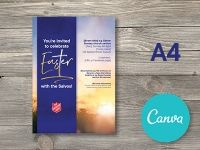 A4 Easter Promotional Poster - Canva Editable