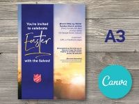 A3 Easter Promotional Poster - Canva Editable