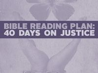 40 Days On Justice - Bible Reading Plan