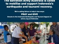 Indonesia earthquake and tsunami appeal:  social media graphic