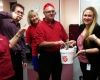 Staff go red for bushfire appeal