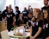 Flash mob serenades diners at International Headquarters