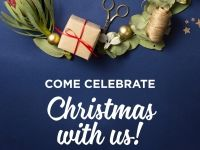 """Come Celebrate"" shareable Facebook graphic"