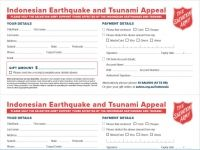 Indonesia earthquake and tsunami appeal:  donation coupon